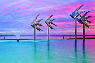cairns-esplanade-lagoon-dawn-haqt0081
