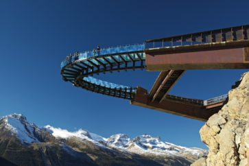 Glacier Skywalk - From Below