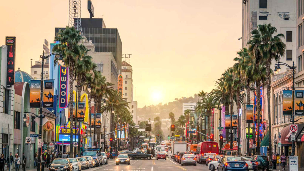 Sunset Boulevard St in Los Angeles